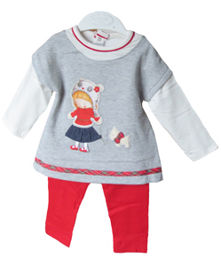 Mayoral Baby-Winterkleid mit Leggings