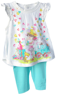 Mayoral Set Baby-T-Shirt Herz mit Leggings