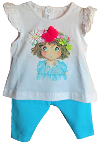 Mayoral Set Baby-T-Shirt mit Leggings